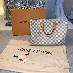 Louis Vuitton Speedy 35 Damier Azure EUC!!!